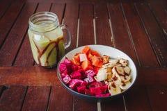 Prima colazione sana della frutta fotografie stock
