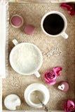 Prima colazione sana e romantica fotografie stock