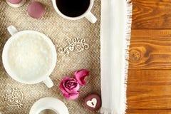 Prima colazione sana e romantica fotografie stock libere da diritti