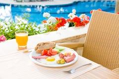Prima colazione servita Fotografia Stock