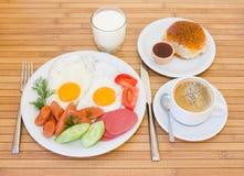Prima colazione servita Immagini Stock