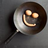 Prima colazione sorridente Immagini Stock