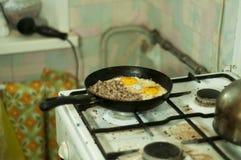 Prima colazione sporca fotografia stock libera da diritti