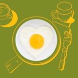Prima colazione squisita royalty illustrazione gratis