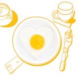Prima colazione squisita illustrazione di stock