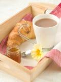 Prima colazione su un cassetto Immagine Stock