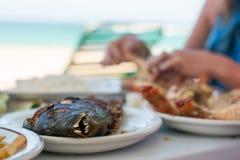 Prima colazione sull'oceano Immagine Stock
