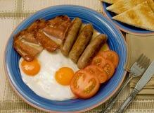 Prima colazione sulla zolla. Fotografia Stock