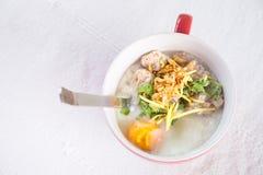 Prima colazione tailandese di stile Immagini Stock