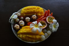 Prima colazione tropicale Fotografie Stock