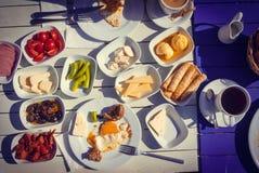 Prima colazione turca fotografie stock libere da diritti