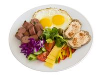 Prima colazione in un piatto Fotografie Stock
