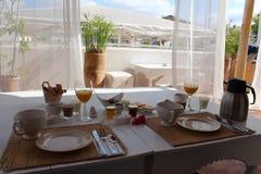 Prima colazione in un riad a Marrakesh Fotografia Stock