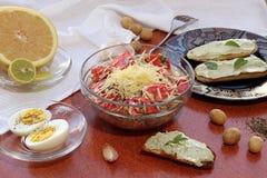 Prima colazione vegetariana Fotografia Stock