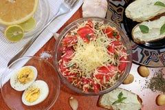Prima colazione vegetariana Immagine Stock
