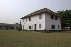 Prima costruzione di storia in Nigeria Fotografia Stock