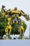 Prima de Optimus e exposição dos transformadores do zangão na esplanada Penang, Malásia fotografia de stock royalty free