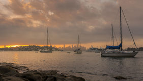 Prima del tramonto Fotografia Stock