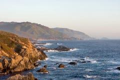 Prima del tramonto a grande Sur California Fotografia Stock Libera da Diritti