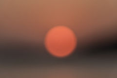 Prima del tramonto nel lago Fotografia Stock