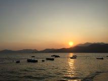Prima del tramonto a Peng Chau, Hong Kong Immagine Stock Libera da Diritti