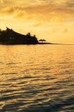 Prima dell'aumento del sole - Maldive Fotografia Stock Libera da Diritti