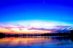 Prima di alba Immagine Stock