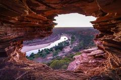 Prima di alba alla finestra delle nature nel parco nazionale di kalbarri, Australia occidentale 5 fotografie stock
