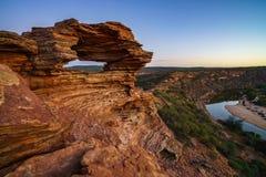 Prima di alba alla finestra delle nature nel parco nazionale di kalbarri, Australia occidentale 10 fotografie stock
