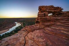 Prima di alba alla finestra delle nature nel parco nazionale di kalbarri, Australia occidentale 14 immagini stock