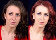 Prima e dopo Fotografia Stock