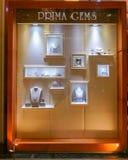 Prima Gems shoppar på Siam Paragon, Bangkok, Thailand, Maj 9, 2018 royaltyfri bild