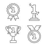 Prima linea icone del premio del posto Immagini Stock Libere da Diritti