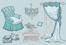 Prima menta del sofà della mobilia Immagine Stock