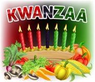 Prima progettazione felice del raccolto di Kwanzaa illustrazione di stock