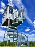 Prima torre di fuoco negli Stati Uniti immagini stock libere da diritti