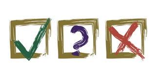 Primaa symboler i guld- ramar stock illustrationer