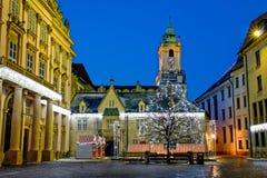 Primaat` s Vierkant in Bratislava stock foto's