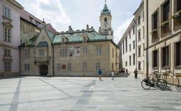 Primacialne namestie bratislava slovakia europe. View of primacialne namestie with the old town hall in bratislava Stock Photography