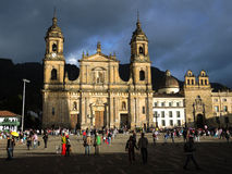 Primada大教堂的看法在波哥大,哥伦比亚 库存照片
