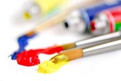Primair kleurenpenseel Stock Foto