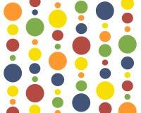 Primaire kleuren polkadots Royalty-vrije Stock Foto's