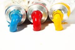 Primaire kleurenolieverf Royalty-vrije Stock Foto's
