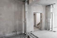 Primaire reparatie van gebouw in het nieuwe gebouw royalty-vrije stock foto's