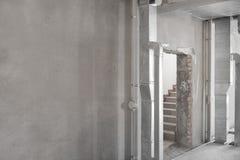 Primaire reparatie van gebouw in het nieuwe gebouw royalty-vrije stock foto