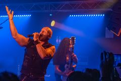 Primal Fear at Legend Club MI 03-10-2018. Milan, Italy - October 3, 2018: German power metal band PRIMAL FEAR performs at Legend Club. Brambilla Simone Live News royalty free stock photos