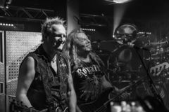 Primal Fear at Legend Club MI 03-10-2018. Milan, Italy - October 3, 2018: German power metal band PRIMAL FEAR performs at Legend Club. Brambilla Simone Live News stock image