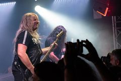 Primal Fear at Legend Club MI 03-10-2018. Milan, Italy - October 3, 2018: German power metal band PRIMAL FEAR performs at Legend Club. Brambilla Simone Live News royalty free stock photo
