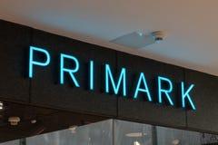 Λογότυπο και σημάδι Primark Το Primark είναι διεθνής λιανοπωλητής ιματισμού στοκ εικόνες με δικαίωμα ελεύθερης χρήσης