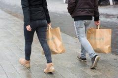 Τσάντες αγορών από Primark Στοκ Φωτογραφία